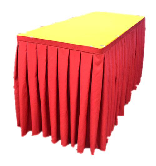 Skirting In Double Box Pleat Design Table Clips  Required